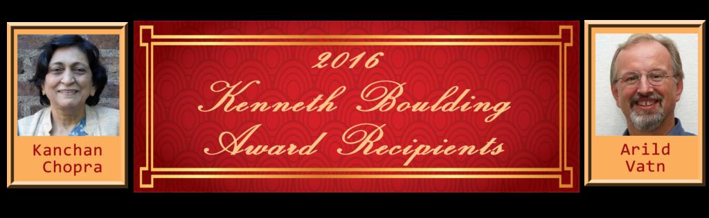 2016 Kenneth Boulding Award Announced