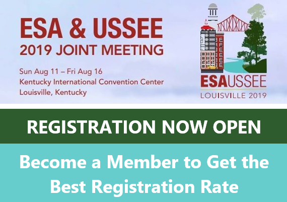 Join us this August 11-16 for the ESA & USSEE 2019 Joint Meeting in Louisville, Kentucky!