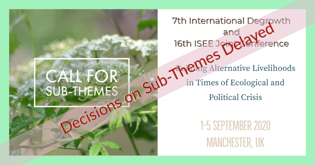 Thank you to all proposers of sub-themes. We apologize for the delay in sending out decisions, intended to be 30th November. We were delayed by the Strikes, and there was a very large number of proposals. We expect to be able to send the decisions by the end of December, and thank you for your patience..